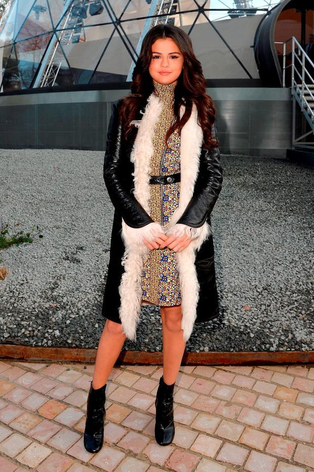 Selena Gomez attends the Louis Vuitton show as part of the Paris Fashion Week Womenswear Fall/Winter 2015/2016