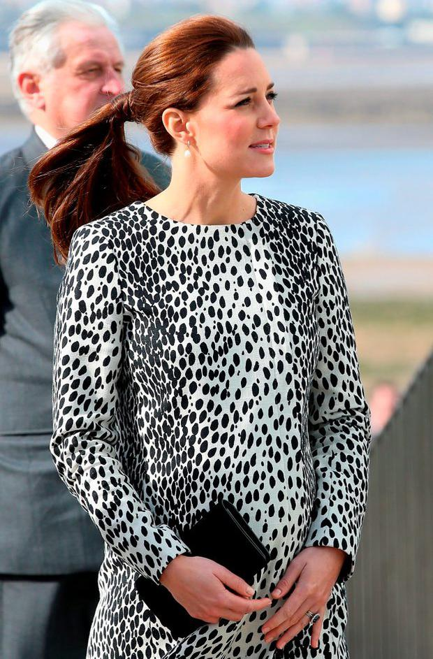 Catherine, Duchess of Cambridge arrives at the Turner Contemporary Art Gallery