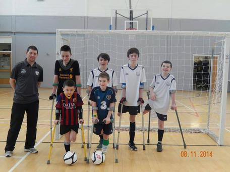 Conor (6) pictured with his teammates.