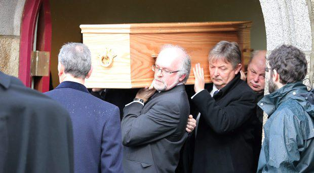 Pictured at the funeral of Paul Drury at The Rathmichael Parish Church, Shankhill