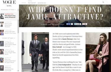 We've made it! Style bible 'Vogue' is quoting the Irish Independent