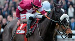 Don Cossack, here winning last season's Drinmore Chase under Davy Russell, can oblige today for Bryan Cooper in the Ryanair