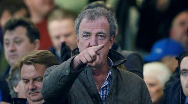 Jeremy Clarkson watches from the stands