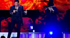 US singer Lionel Richie performs on stage