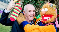 Ray D'Arcy and Socky Reunite to launch World Down Syndrome Day. Pic: Marc O'Sullivan