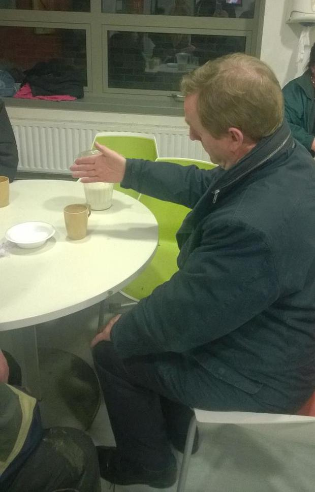 The Taoiseach at the Night Cafe on Merchants Quay last night