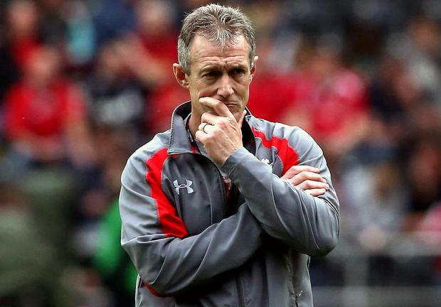 Wales' backs coach Rob Howley