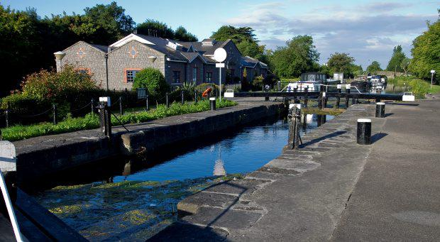 Monday 20 August 2012.The Twelfth Lock on the Royal Canal in Castleknock.