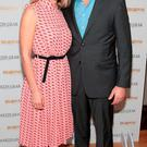 Kathryn Thomas and partner Padraig McLoughlin at Liz O Donnell's annual fundraising lunch for Adi Roche's Chernobyl Children International at Fire Restaurant ,Dublin