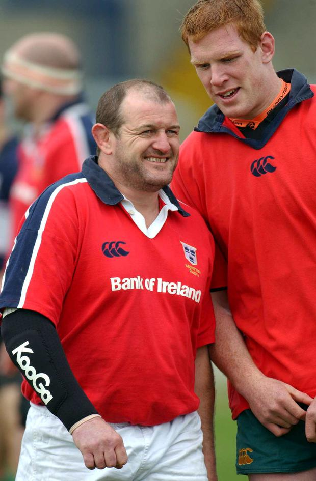 Peter Clohessy with Paul O'Connell during their Munster days