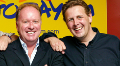 Tony Fenton with fellow Today FM DJ's Phil Cawley and Ian Dempsey in 2004 Credit: Marc O'Sullivan
