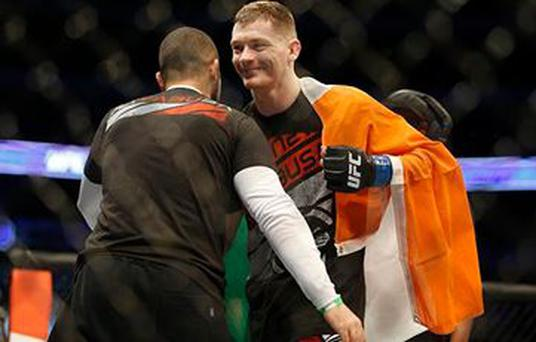 Joseph Duffy made a blistering start to his UFC career with a first-round victory over Jake Lindsey