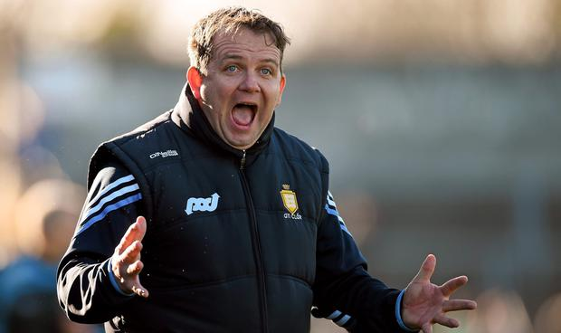 Clare manager Davy Fitzgerald reacts during the game