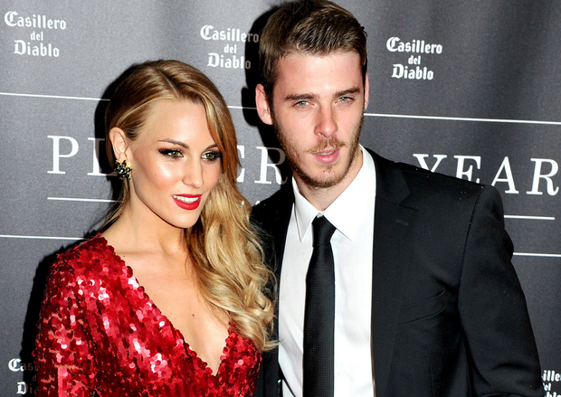 Edurne Garcia and her partner David de Gea