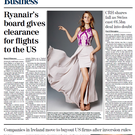 This morning's front page of the Irish Independent Business section