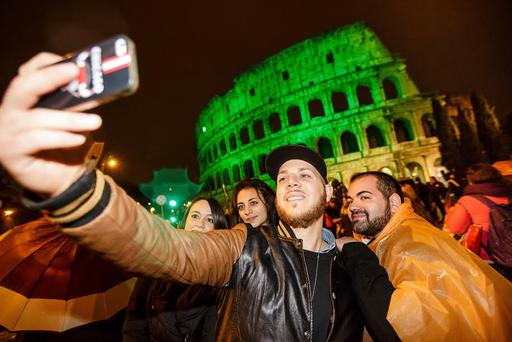Selfie at Rome's Colosseum