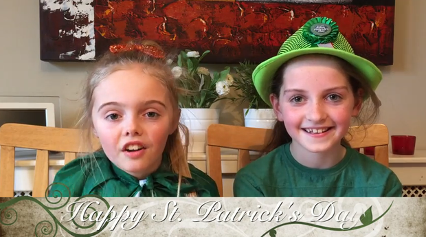 Irish ten-year-olds the 'Candy Girls' try some Irish sweets and explain what being Irish means to them.