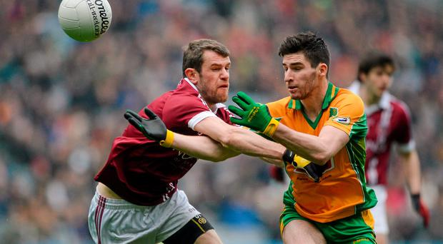Martin Farragher in action for his club Corofin