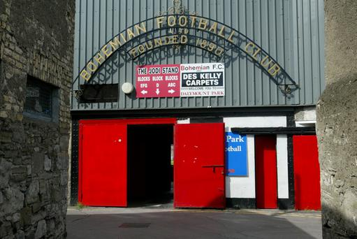 Dalymount Park, home to Bohemian Football Club
