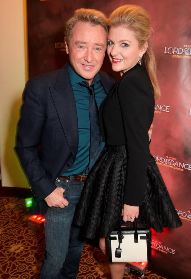Michael Flatley (L) and Niamh O'Brien attend the after party following the Gala Performance of