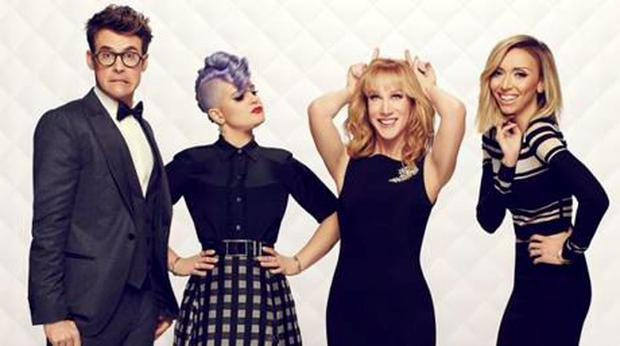 The most recent Fashion Police cast including Brad Goreski, Kelly Osbourne, Kathy Griffen and Guiliana Rancic