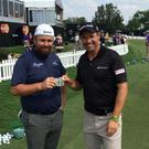 Shane Lowry and Padraig Harrington