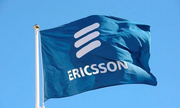 Ericsson's flag is seen at the company's headquarters in Stockholm. Photo: Reuters
