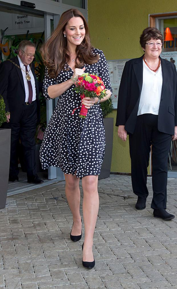 March 18: Kate's €50 polka dot dress from Asos sold out within minutes.