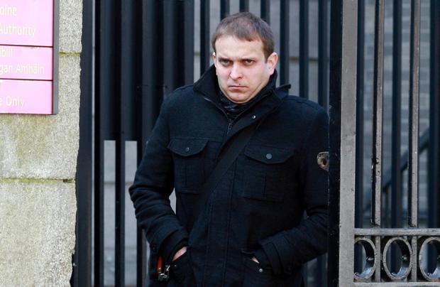 Gintaras Katkevicius (32) of Rochford Park, Lucan, Co. Dublin, pictured leaving the Four Courts yesterday after he was awarded €356,000 damages. Photo: Courts Collins