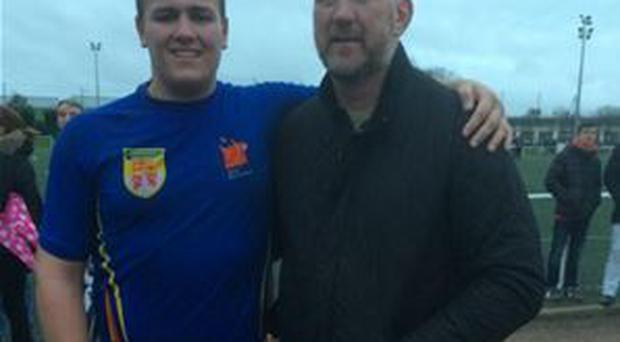 Daniel Brennan with his father, former Irish international Trevor Brennan