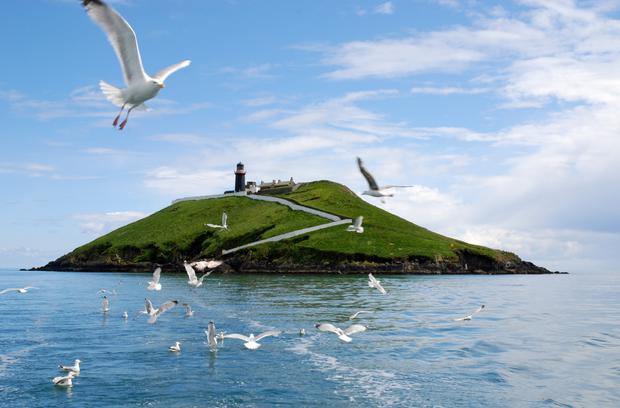 Ring of Cork: Colm's Island, with Ballycotton Lighthouse. Tours of the area are available from ballycottonlighthousetours.com.