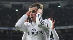 Gareth Bale cups his ears to make his point to the Real Madrid fans after scoring their opening goal against Levante last week