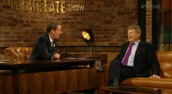 Actor Ryan O'Neal on the Late Late Show