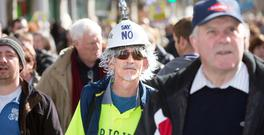 Anti Water charges protesters on Dublin's O'Connell Street on Saturday. Photo: Tony Gavin