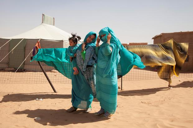 Sisters Jadija And Sara Salic Photographed At Auserd Refugee Camp Sahara Picture Clare
