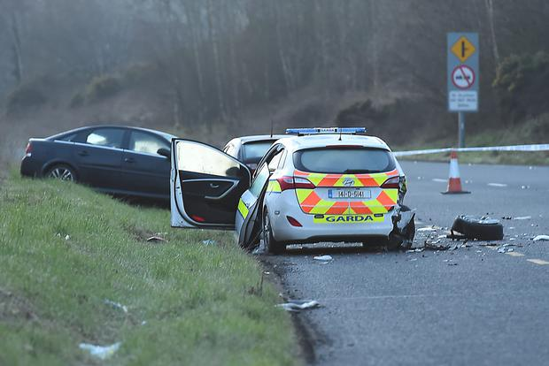 A three-car pile up occurred on the N2 Monaghan /Dublin road. Photo: Philip Fitzpatrick.