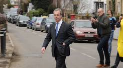 Ukip leader has become a target for protests against anti-immigration policies