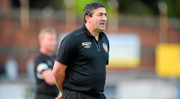 Derry City manager Peter Hutton. SSE Airtricity League Premier Division, Derry City v Dundalk, Brandywell, Derry