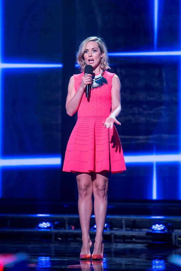 Kathryn Thomas during the first live show of The Voice of Ireland in The Helix.