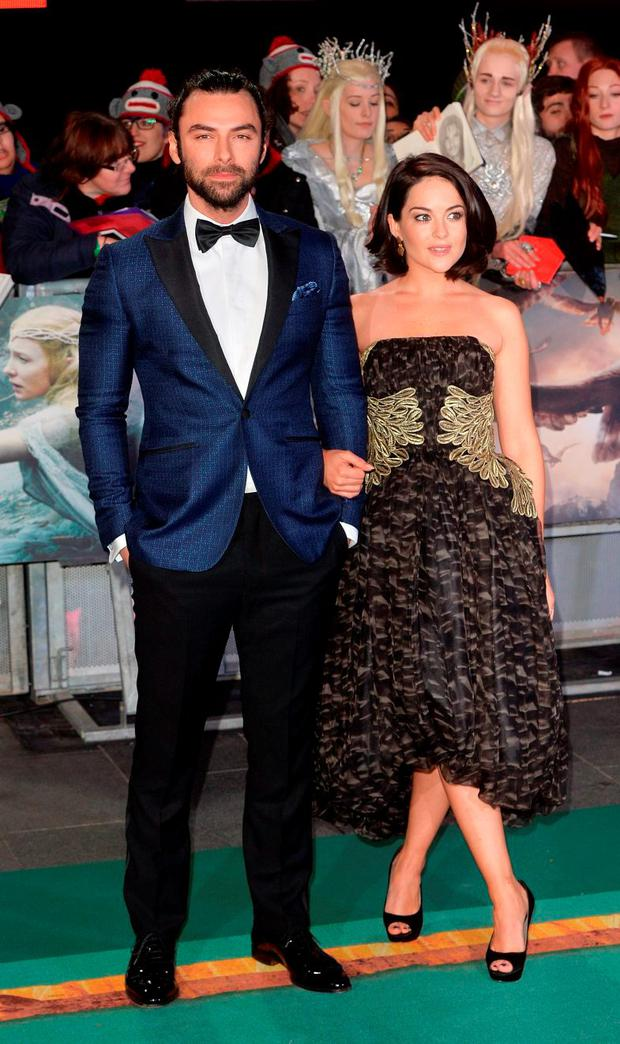 Aidan Turner and Sarah Greene