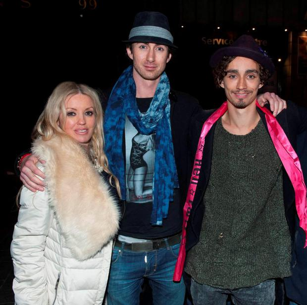 Actor Robert Sheehan seen leaving Lillies Bordello in the early hours with his brother & fellow actor Brendan Sheehan