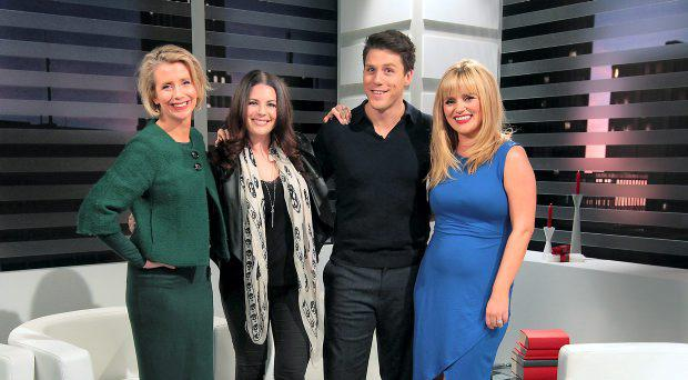 Xpose Presenters Aisling O Loughlin,Lisa Cannon, Peter O Riordan and Karen Koster on the Xpose Set at TV3 Studio's in Ballymount Dublin