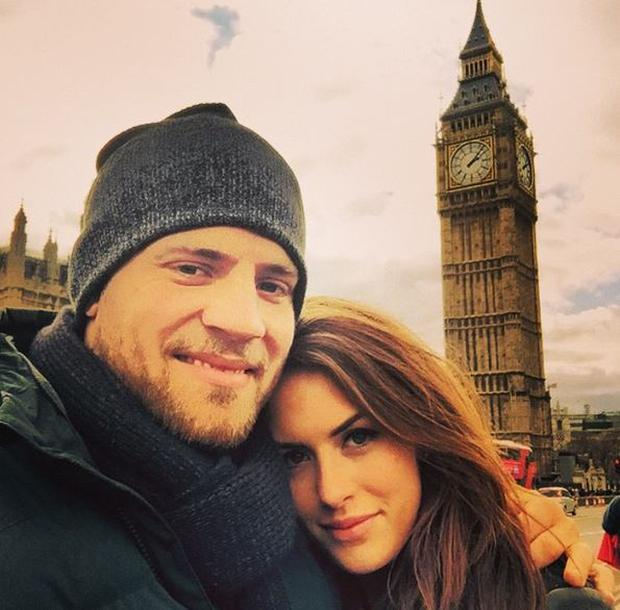 Ian Madigan and girlfriend Anna Kirwan. Picture: Instagram