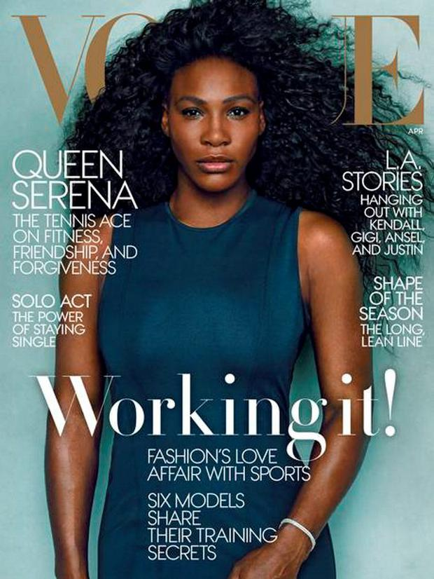 Vogue April cover starring Serena Williams hot by Annie Leibovitz