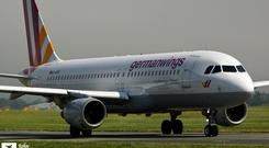 The actual D-AIPX Germanwings Airbus A320 that has crashed in French alps today photographed by photographer John Madden as it landed in Dublin Airport in July 2014. Picture credit: John Madden