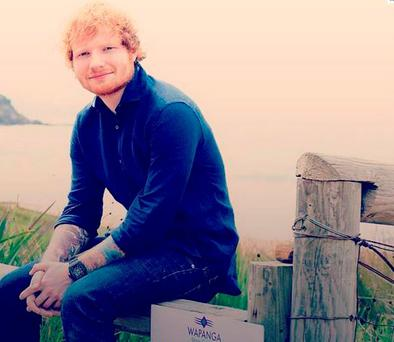Ed Sheeran on set of Home and Away