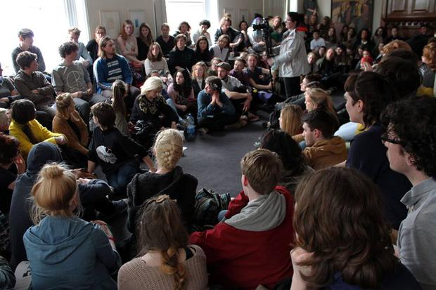More than a 100 NCAD students took part in the protest Credit: NCAD Student Action