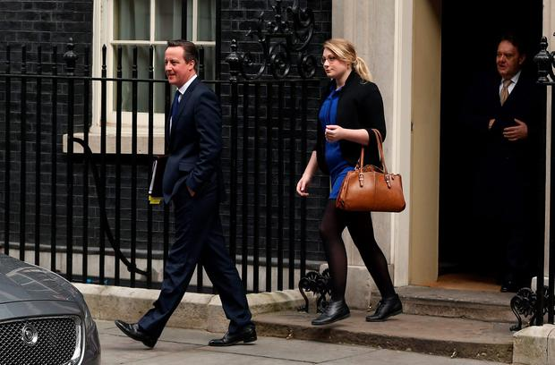David Cameron leaving Downing Street yesterday - but is he sleepwalking Britain towards the EU exit?