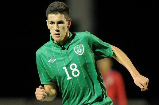 Conor Wilkinson was on the scoresheet during Ireland's 3-1 defeat at the hands of Lithuania