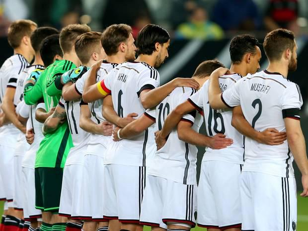 Silence and black armbands during last night's friendly between Germany and Australia